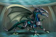 Dragon aquatique avec armure