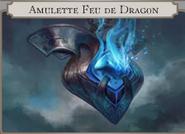 Amulette feu de dragon