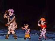 Goku, Trunks and Pan dancing the Para Para Boogie