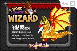 gold dragon dragonvale wiki race