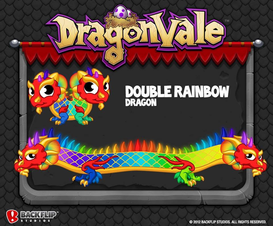 Double Rainbow Dragon Dragonvale Wiki Fandom