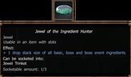Jewel of Ingredient Hunter