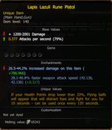 Lapis Lazuli Rune Pistol stats