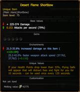 Desert Flame Shortbow stats
