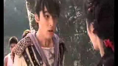 Behind The Scene during the filming of Chinese Paladin 3 ~ Hu Ge ~ Liu Shi Shi ~ Yang Mi