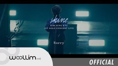 """김성규Kim Sung kyu """"Sorry (Shine Live ver"""
