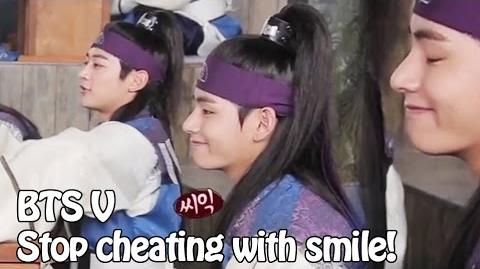 Eng Sub BTS V your smile is cheating hwarang hansung making film 방탄소년단 뷔 컨닝중