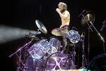 Yoshiki with drum kit 2011