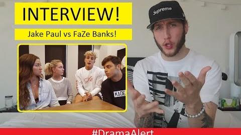 FaZe Banks INTERVIEW! DramaAlert Jake Paul & Erika Costell FAKE! jakepaulisoverparty Team 10