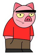 Spanky Ham Sticker 1