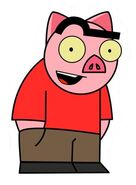 Spanky Ham Sticker 2