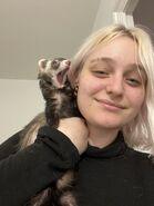 Niki and ferret