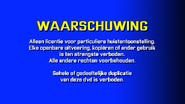 CVN Video warning screen The Netherlands Europe DUTCH