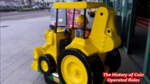 2000s Coin Operated Digger Kiddie Ride - Bob The Builder Scoop