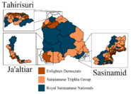 2018 Saranamese general election map