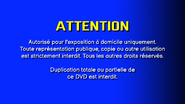 CVN Video warning screen France Europe FRENCH