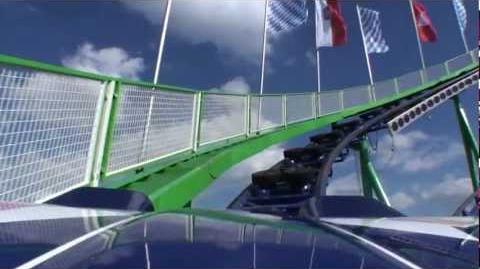 Alpina Bahn Roller Coaster POV Oktoberfest Germany Schwarzkopf Traveling Ride