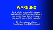 CVN Video warning screen Germany Europe GERMAN