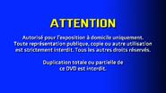 CVN Video warning screen USA Canada FRENCH