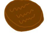 Chocolate burger patty
