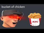 Scout eats a bucket of chicken and lives