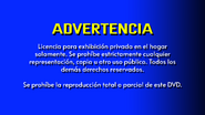 CVN Video warning screen USA Latin America SPANISH