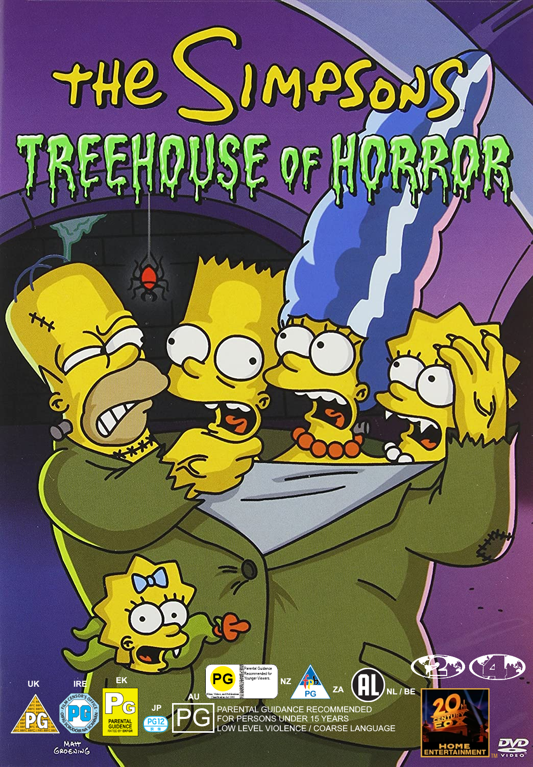 The Simpsons Treehouse of Horror (DVD, Region 2/4, fictional, 2002)