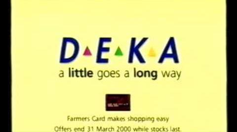 DEKA (Vicnora)/List of commercials