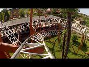 Brontojet Roller Coaster POV Movieland Park Italy - Classic Schwarzkopf Ride