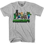 Minecraft character logo t shirt