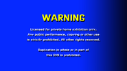 CVN Video warning screen USA Canada ENGLISH