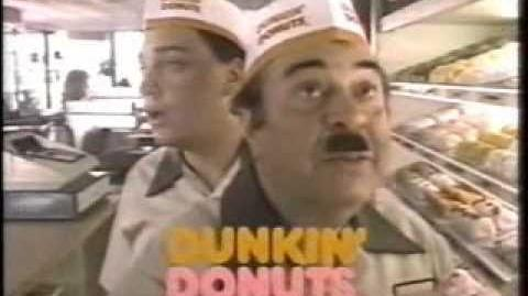 """1980's """"Fred the Baker"""" Dunkin' Donuts commercial"""