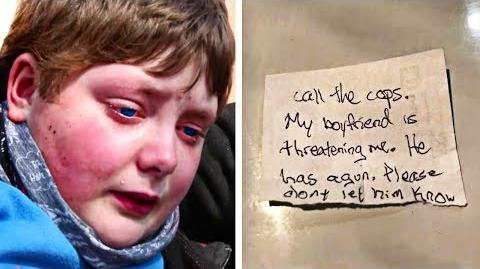 9-Year-Old Boy Gives Police Officer A Secret Note – Cop Reads It And Jumps Out Of His Chair In Shock
