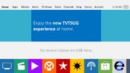 TVTSUG X9 homescreen