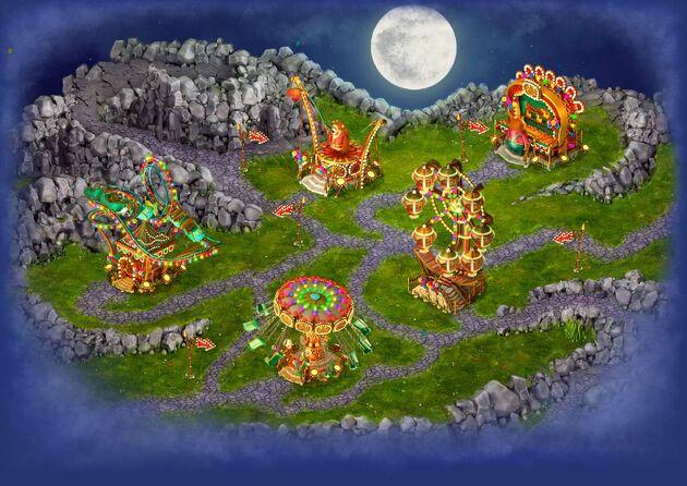 Amusement park area