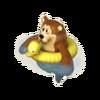 Bear on swim ring