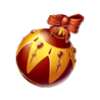 Red christmas tree bauble