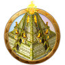 Dream icon pyramid in tropics