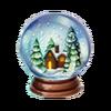 Crystal ball winter holidays