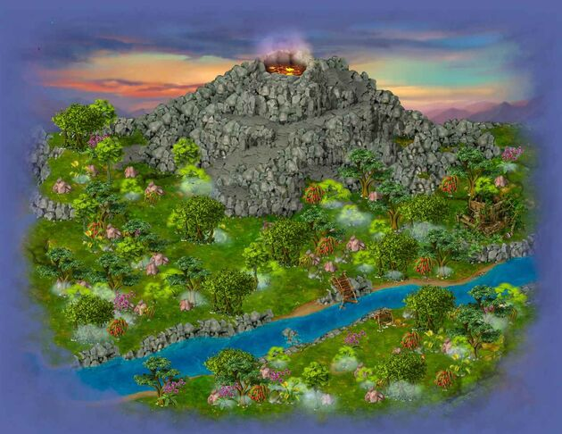 Volcano area