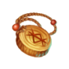 Wooden amulet
