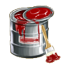 Red paint