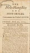 Colonial newswork 1770's