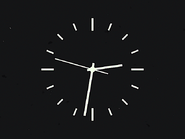 Cuben Television Service clock (1949)