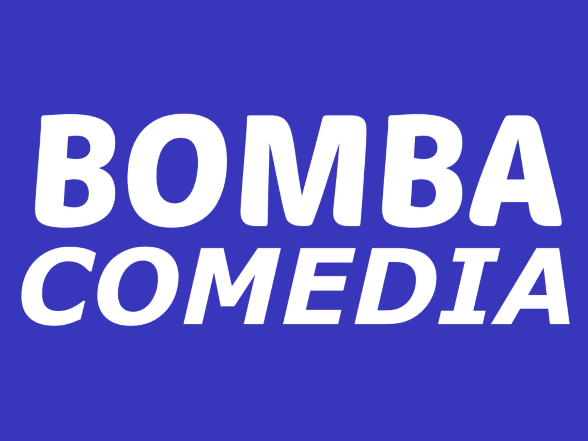 Bomba Comedia Logo (Green Screen)