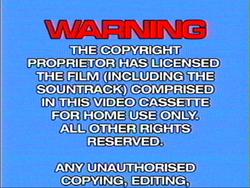 Cuben Hoyts Video warning screen 1984 1