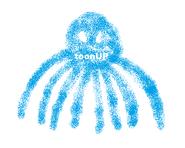 ToonUp Octopus logo (June 2005)