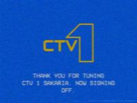 CTV1 sign-off 1986