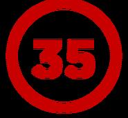 TheCuben2006 Channel 35 Years logo