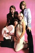 ABBA in the pink background